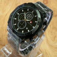 Swiss Army Crono Time - Jam Tangan Pria - Stainless Steel
