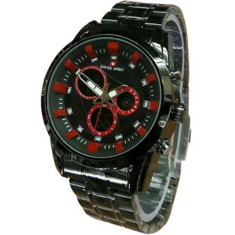 Swiss Army D47H140SA3219MHTMLM Dualtime Jam Tangan Pria (Hitam)