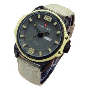Swiss Army Jam Tangan Pria - Strap Kanvas - SA 4072 DF - Kuning
