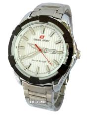 Swiss Army - SA6412M - Jam Tangan Pria - Stainless - Silver Plat Putih