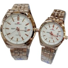 Swiss Navy Sn5857-Jam Tangan Couple- Stainless Rose Gold - Inner With - Date Day - Rose Gold
