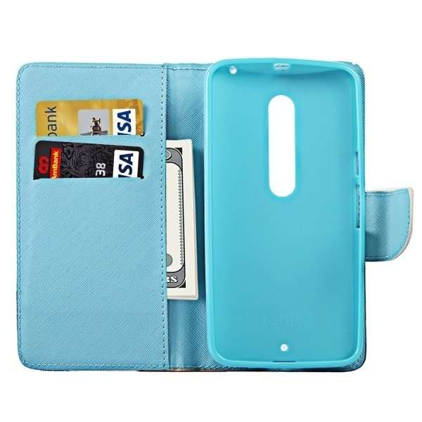 Symbols of Britain Pattern Horizontal Flip Leather Case with Holder and Card Slots and Wallet for Motorola Moto X Style (Intl)