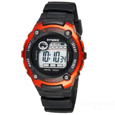 SYNOKE 99589 LED Luminous Alarm Waterproof Sport Watch (Gold)