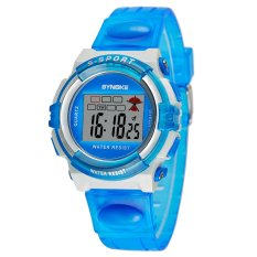 SYNOKE Multifunctional Digital Water Resistant LED Wristwatch Children Student Watch Blue (Intl)