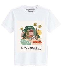 Sz Graphics Los Angeles T Shirt Wanita Kaos Wanita - Putih