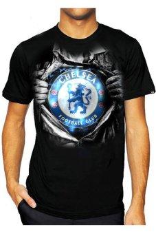 T-Shirt Glory Kaos 3D Chelsea Super - Hitam