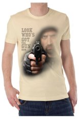 T-Shirt Glory Kaos 3D Gun 2 - Cream