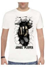 T-Shirt Glory Kaos 3D Jombs Player White - Putih
