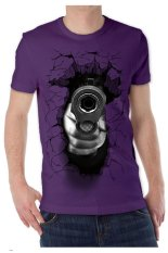 T-Shirt Glory Kaos 3D Shoot Accuracy Ungu Tua - Ungu Tua