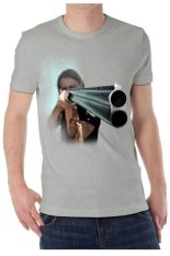 T-Shirt Glory Kaos 3D Shooting Grey - Abu Misty