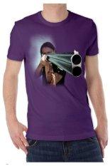 T-Shirt Glory Kaos 3D Shooting Ungu Tua - Ungu Tua