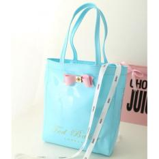 Ted Baker Fashion Women's Waterproof Jelly Bag Handbag Tote Bag Shopping Bag-Blue