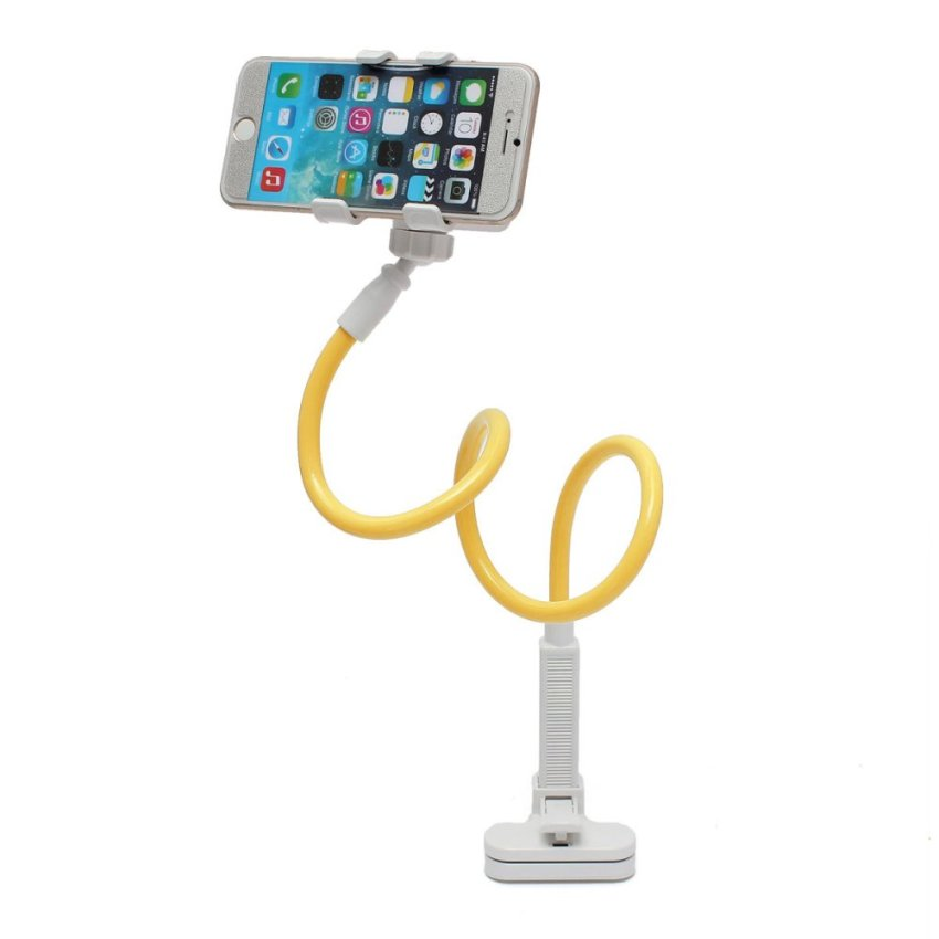 Telescopic Plastic Clamp Holder Cradle Stand Mount For Mobile Smart Phone Tablet Yellow (Intl)