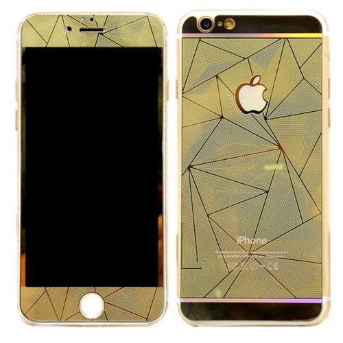Tempered Glass Protector Diamond 3D iPhone SE / 5S / 5 - Gold