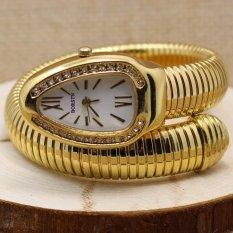 The Trend Of Single Ring Snake Bracelet Watch Girls Trend Watch (Gold) (Intl)