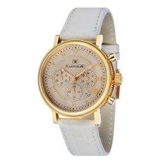 Thomas Earnshaw BEAUFORT ES-8051-04 Men's White Genuine Leather Strap Watch