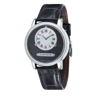 Thomas Earnshaw LAPIDARY ES-0027-01 Men's Black Genuine Leather Strap Watch