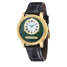Thomas Earnshaw LAPIDARY MEN Black Genuine Leather Strap Watch - ES-0027-04 (Intl)