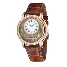 Thomas Earnshaw LAPIDARY MEN Brown Genuine Leather Strap Watch - ES-0027-06 (Intl)