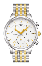 TISSOT Tradition Chronograph Jam Tangan Pria T0636172203700 - Stainless Steel - Silver