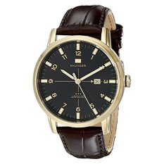 Tommy Hilfiger Men's 1710329 Gold-Tone Watch With Brown Leather Strap - Intl