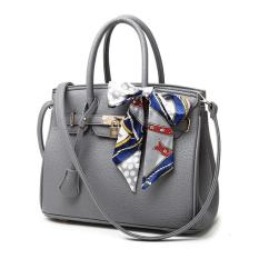Top-Handle Bags Tote Shoulder Bags Woman HandBag Designer Shoulder Bag Girl Faux PU Leather Handbag (Grey)