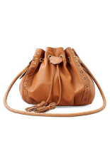 Toprank Korean Style Women Handbag Pu Leather Shoulder Cross Body Messenger Bag Purse (Brown) - Intl