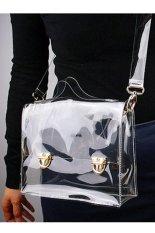Toprank Summer Fashion Street Fashion Unisex Pvc Transparent Envelope Clutch For Ipad Clear Bag Handbag For Women (Clear)