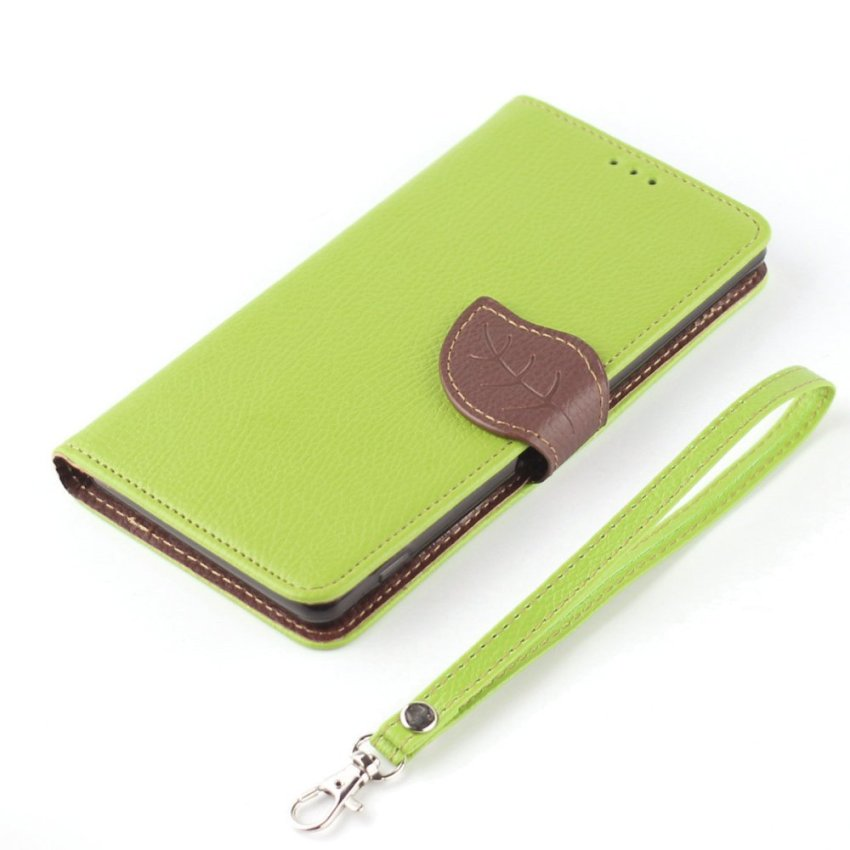 TPU Flip Leather Wallet Cover with Card Slot Holder for Apple iPhone 6/6S (Green) (Intl)