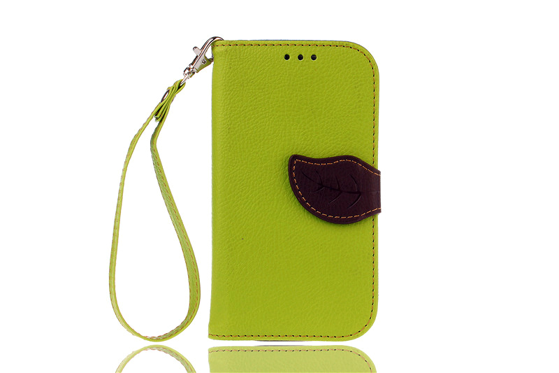 TPU Flip Leather Wallet Cover with Card Slot Holder for Samsung Galaxy S3 (Green) (Intl)