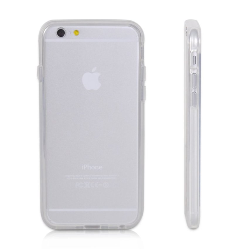 TPU Gel Transparent Bumper Rim Frame Case Cover for Apple iPhone 6 6s 4.7 (Intl)