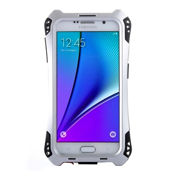Transformers Style Carbon Fibre Metal Protective Case for Samsung Galaxy Note 5 / N920(Silver) (Intl)