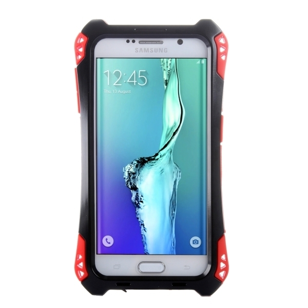 Transformers Style Carbon Fibre Metal Protective Case for Samsung Galaxy S6 Edge+ / G928(Red) (Intl)