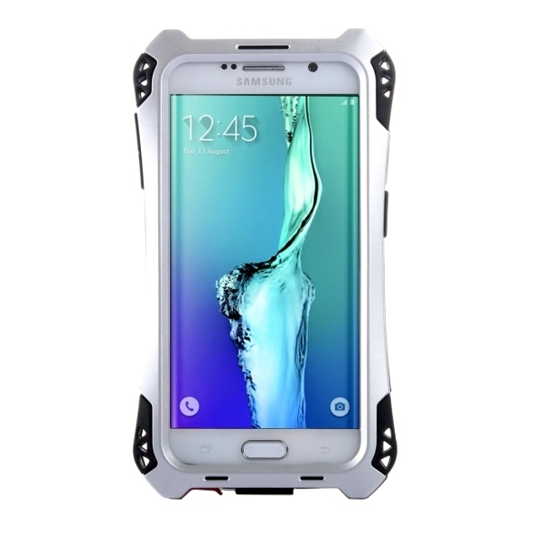 Transformers Style Carbon Fibre Metal Protective Case for Samsung Galaxy S6 Edge+ / G928(Silver) (Intl)