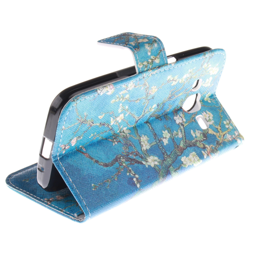 Trees Double Painting Filp Leather Cover for Samsung Galaxy Grand Prime G530F (Blue) (Intl)