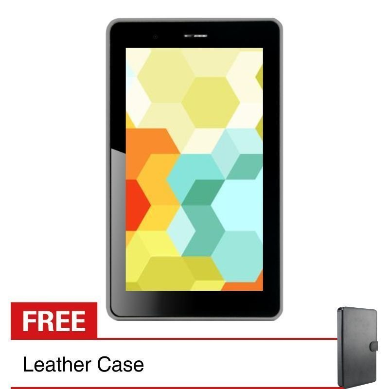 Treq 3G Turbo Plus - 8GB - Hitam + Gratis Leather Case