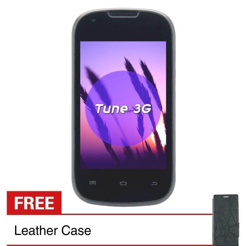 Treq Tune 3G - 512MB - Hitam + Gratis Leather Case