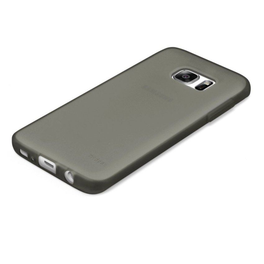 Tridea Galaxy S7 Edge Case Jelly Slim Design - Smokey Black