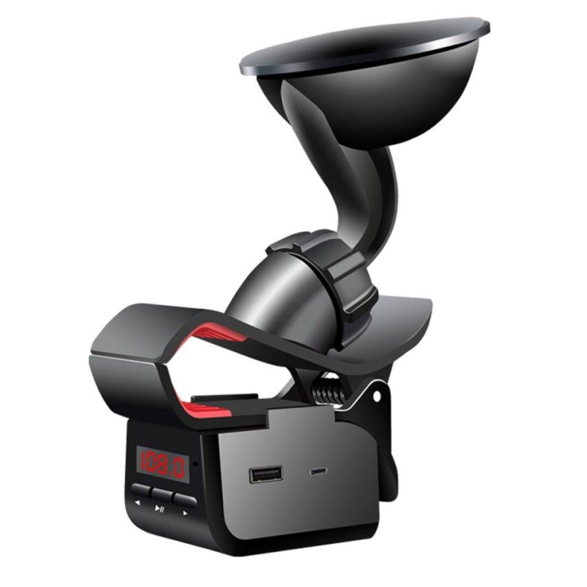 TS-FM29 Multifunction Phone Holder Car Handsfree FM Transmitter (Black) (Intl)