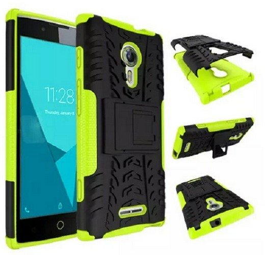 Tstore Casing Tough Armor Rubber Case buat Alcatel Flash 2 - Hijau