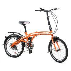 "Twist Folding Bike 6SP Sepeda Lipat 20"" - Oranye"
