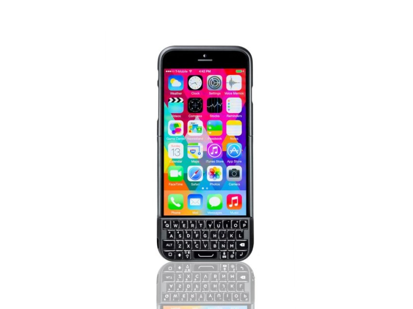Typo 2 Keyboard Cover for iPhone 6 - Hitam