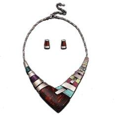 UJS Fashion Color Short Necklace Bride Dress Womens Suits Accessories (Intl)
