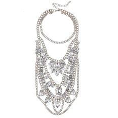 UJS Korean Korean Diamond Pendant Necklace Fashion Luxury Accessories (Intl)