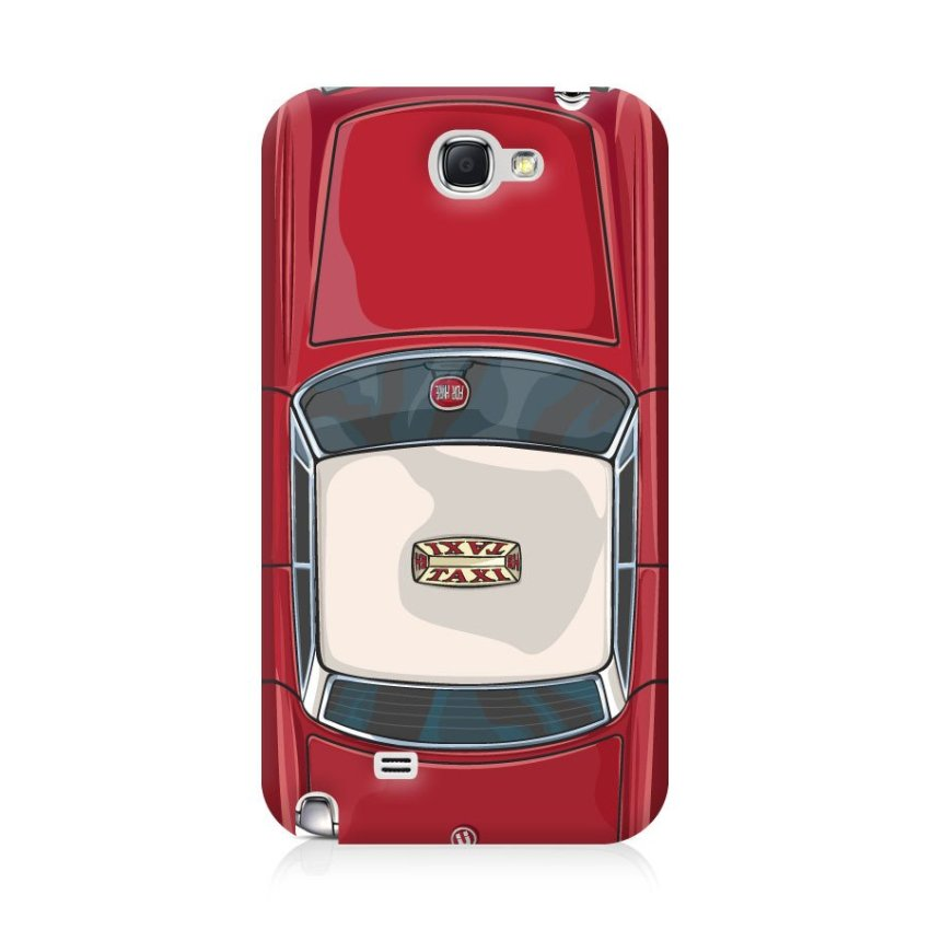 Ultra Case Samsung Galaxy Note 2 Hard Case Hong Kong Style 03 Red Bus