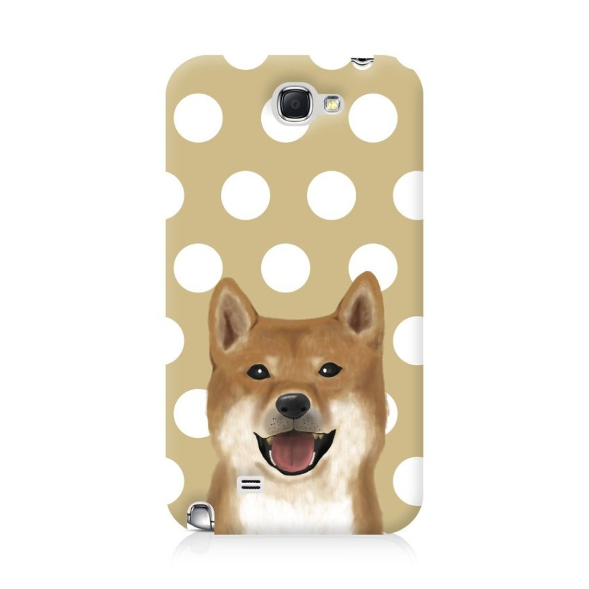 Ultra Case Samsung Galaxy Note 2 Hard Case My Pets Dog with dots Brown