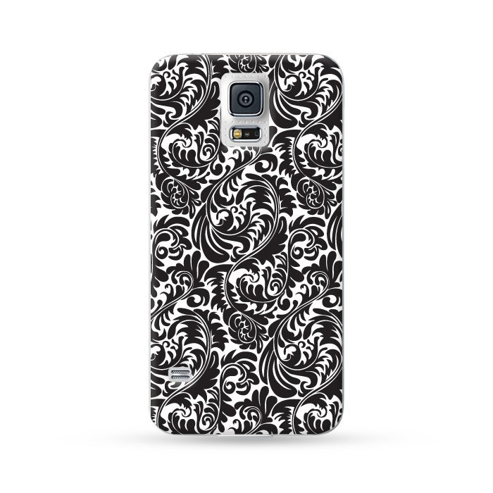 Ultra Case Samsung Galaxy S5 Hard Case Floral Black 2