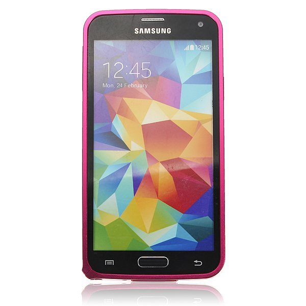 Ultra Thin Aluminum Metal Bumper Frame Case for Samsung Galaxy S5 i9600 G900 (Pink) (Intl)