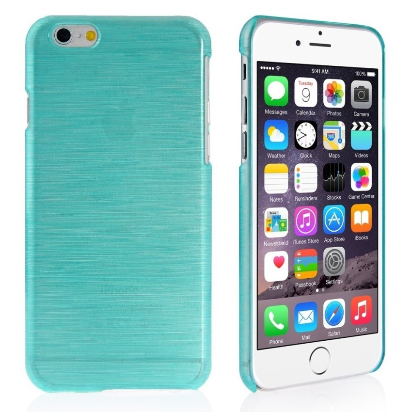 Ultra Thin Crystal Wire  Back Case for iPhone 6 Mint Green