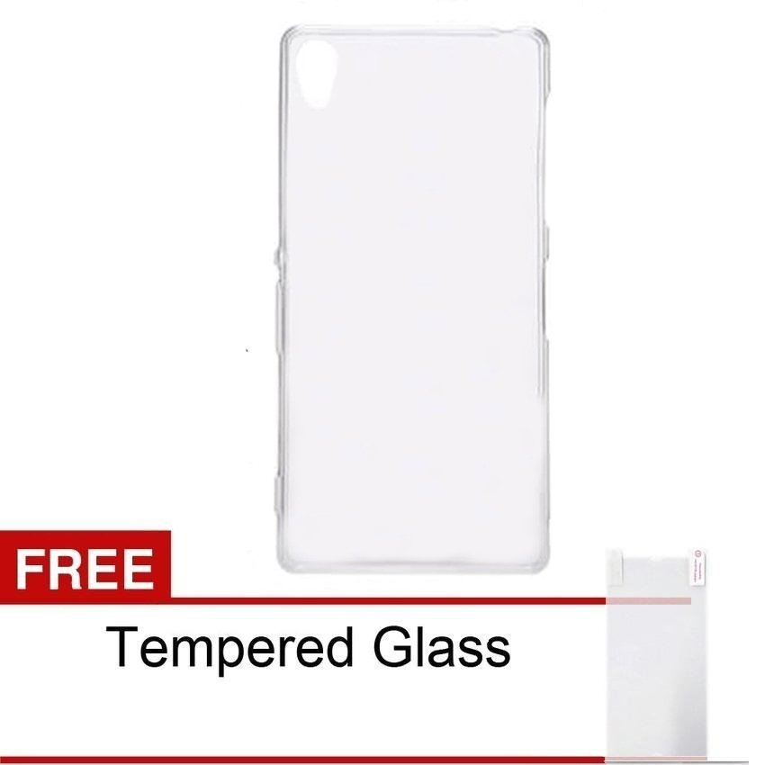 Ultra Thin Infinix Hot 2 X510 Air Case Fit 0.3mm - Clear + Gratis Tempered Glass